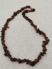 Garnet Chip Stone Necklace