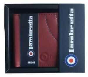 Men's Lambretta Burgundy RFID Protection Wallet
