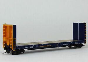 N Scale 70T Bulkhead flatcar Ontario Northland ONR Blue