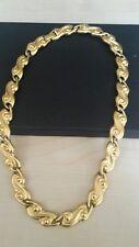 Goldtone matt vintage necklace.  C1980s. M&S.