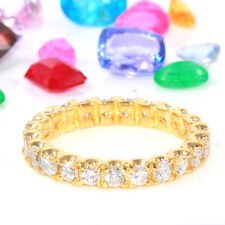 1.50 Carat Natural Diamond 14K Solid Yellow Gold Eternity Ring Band