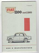 Libretto Uso e Manutenzione Fiat  1100 mod. 1958