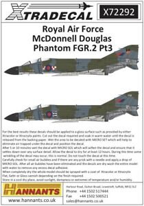 NEW 1:72 Xtradecal X72292 McDonnell-Douglas FGR.2 Phantom Pt.3