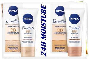 NIVEA BB Day Cream 24H MOISTURE + Radiance - Provitamin B5 LIGHT # MEDIUM  50 ml
