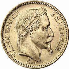 Frankreich 20 Francs 1861 bis 1870 Napoleon mit Lorbeerkranz und Bart Goldmünze