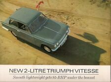 Triumph Vitesse 2-Litre Mk1 1966-68 UK Market Sales Brochure Saloon Convertible