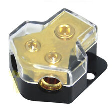 1 in 2 Out Car Audio Power or Ground Cable Splitter Distribution Blocks Copper