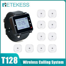 T128 Wireless Waiter Restaurant Call System 1*Watch Receiver+10Call Button Clubs