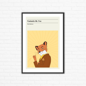 Wes Anderson, Fantastic Mr. Fox Minimalist Movie Poster