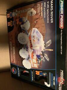 Laser Pegs Mission Mars Mars Rover Building Toy 200 Pcs 3 LED lights #18002 /NIB