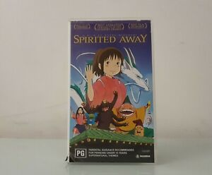 Spirited Away RARE VHS ~ Anime Adventure Fantasy ~ PLAYS WELL!