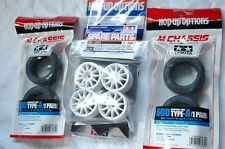 TAMIYA 1:10 RC Car F.m.Tire(53340) + Wheel(51237) + Inner(53255) set (M-chassis)