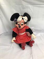 Applause 1981 Plush Disney Minnie Mouse 8407 Red Polka Dot Dress Stuffed W Tags