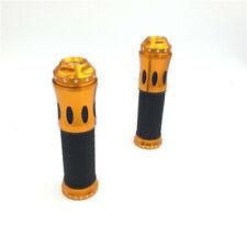 "7/8"" Light Orange None-Slip Rubber Handbar Grips For Suzuki V-Strom GSR600 SV650"