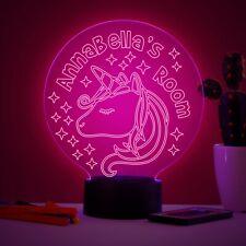 Personalised Unicorn Colour Changing Kids Night Light Children's Birthday Gift
