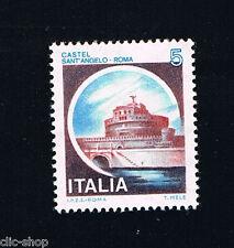 ITALIA 1 FRANCOBOLLO CASTELLI D'ITALIA 5 LIRE SANT'ANGELO ROMA 1980 nuovo**