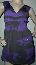 NWT Buffalo Petite size SP Black & Purple Lined w/Zip Side Pockets & Side Dress
