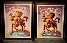 1986 GPK Garbage Pail Kids - Horsey Henry #86a Galloping Glen #86b - 3rd Series