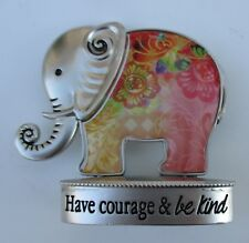 e Have courage and be kind Lucky Elephant Figurine miniature Ganz