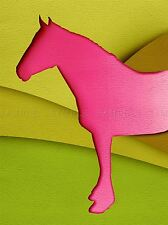 Horse Silhouette Cutout Green Pink Photo Art Print Poster Picture Bmp2251a