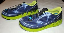 Hoka One One Conquest Men's Running Shoe M 13 US Navy Blue/Lime/Black MS-30