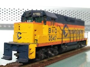 ATHEARN HO SCALE #3547 B&O, CHESSIE SYSTEM GP35 DIESEL LOCOMOTIVE TESTED/GOOD
