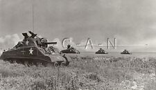 WWII US Press RP- Sherman Tank- 11th Armored Div- Deception Photo- Never in CA