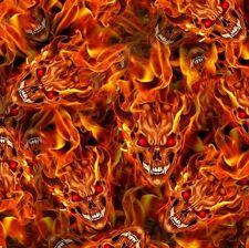 Red eye flames skulls devil hydrographics water transfer printing film