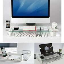 U-Board USB Multiboard Glass Monitor Laptop Notebook Stand Phone Coffee Holder