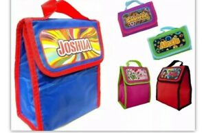 Kid`s Girls & Boys Personalized Named Insulated Eco-Friendly Lunch Bag New