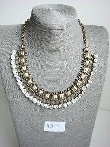 #015 UK Modern Statement Chain Necklace Bronze Antique Rustic Costume Jewellery