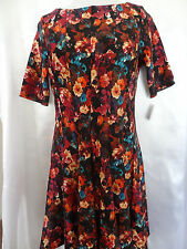 TAYLOR! Multi Seamed Elbow Short Sleeve Black Rust Women's Dress Size 12
