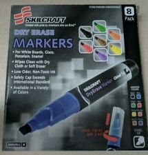 7520011863605 Dry Erase Marker, Broad Chisel Tip, Assorted Colors, 8/Set
