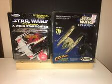 1997/1999 ESTES Star Wars Trade Federation Droid Fighter and X-wing Starfighter