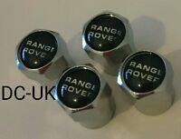 RANGE ROVER Chrome Wheel Tyre Valve Dust Caps for Sport VOGUE EVOQUE classic 4x4