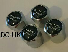 Range Rover Plástico Cromado Rueda Neumático Válvula Polvo Tapas Para Deporte Vogue Evoque 4x4