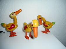 jouets bois 1950  3 OIES articulées  pour charrette agricole hauteur 14 cm