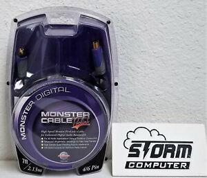 Monster Digital Prolink FIREWIRE Cable 4/6 Pin 7' FL400-4/6-7 600394-0