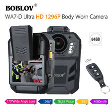 BOBLOV WA7-D 1296P 64GB 2inch Body Worn Camera Remote Controller 170°wide-angel