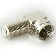 90 Degree F Type Screw Connector Adapter-Sat Coaxial Right Angled Plug to Socket