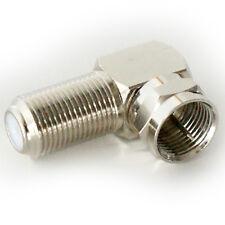 Conector F derecho angled/angle Adaptador-Plug para Socket De 90 Grados-Rf Coaxial