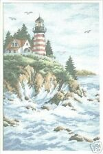 Land's End Lighthouse Cross Stitch Chart Pattern