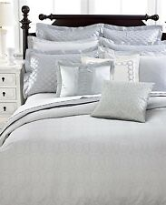 Martha Stewart Trousseau VENDOME 6pc Queen DUVET + SHAMS + BEDSKIRT Grey$750 New