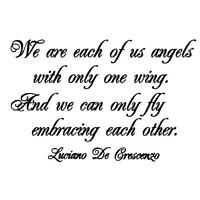 We are Angels.. Embracing.. friendship unmounted rubber stamp, encouragement #18