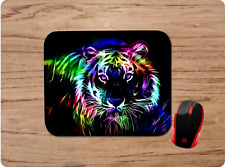 AWESOME LION NEON RAINBOW COLORFUL MOUSE PAD CUSTOM MADE