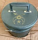 Vintage MASONIC SHRINERS FEZ Hat BOX- Nice Sturdy Condition,  D. Turin & Co.