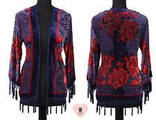 Floral Print Pure Silk Devore Jacket