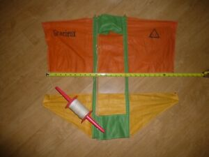 VINTAGE GRACIEUX FRENCH WAR KITE  BY BLERIOT EARLY FRENCH AVIATOR