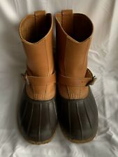 Mens Vintage Bean Boots LL Bean Lounger Boots Pull On Buckle sz 10