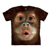 The Mountain Big Face Baby Orangutan Monkey Adult Unisex T-Shirt